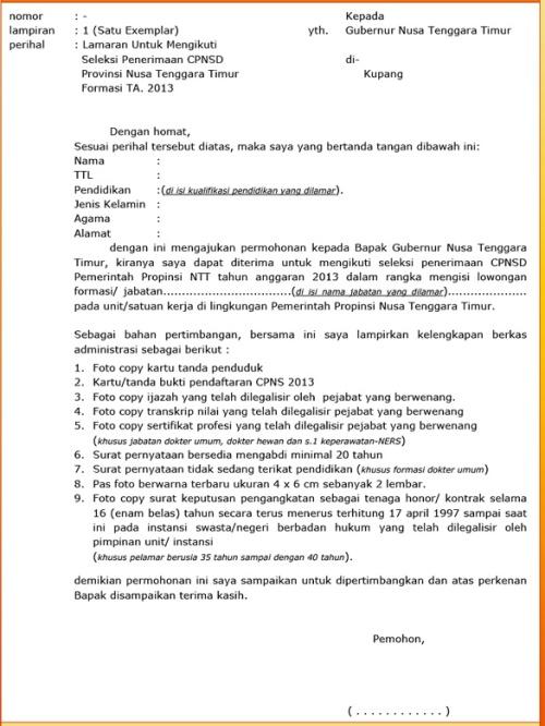Contoh Amplop Surat Lamaran Kerja Cpns 2017 Sfwer
